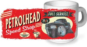 Koolart PERTOLHEAD SPEED SHOP Design For American Dodge Ram Pickup Ceramic Tea Or Coffee Mug
